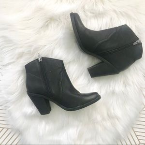 Dolce Vita | Black Leather Western Style Booties
